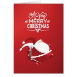 Red Santa Claus Very Christmas Greeting Card