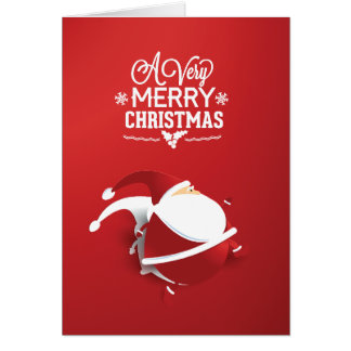 Red Santa Claus Very Christmas Greeting Card