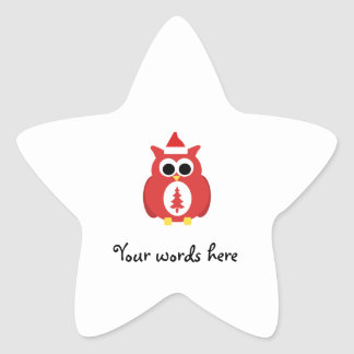 Red santa owl stickers