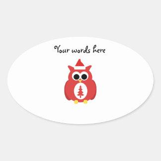 Red santa owl stickers