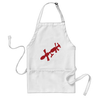 Red Satellite Space Station Icon Adult Apron