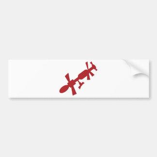 Red Satellite Space Station Icon Bumper Sticker