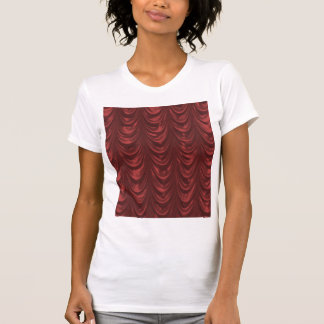 Red Satin Fabric with Scalloped Pattern T-Shirt