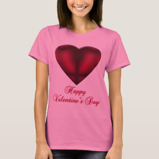 Red Satin Heart T-Shirt