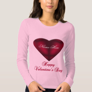 Red Satin Heart Tees