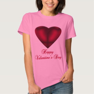 Red Satin Heart Tshirt