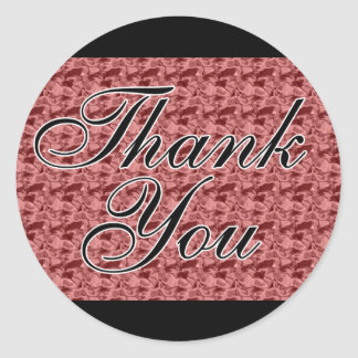 Red Satin Thank You Seals / Stickers