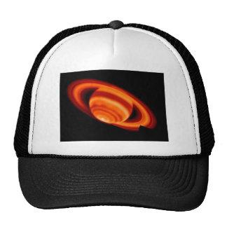 Red Saturn Trucker Hat