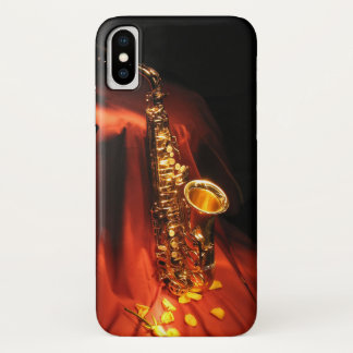 Red Saxophone iPhone X Case
