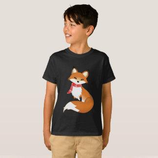 Red Scarf Fox Hane's Kid T Shirts