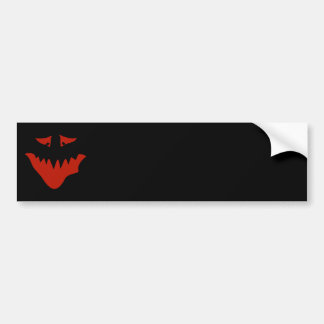 Red Scary Face. Monster. Car Bumper Sticker