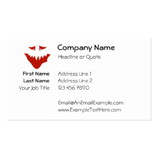 Red Scary Face. Monster. Double-Sided Standard Business Cards (Pack Of 100)
