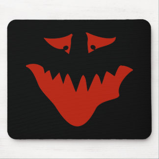 Red Scary Face. Monster. Mouse Mat