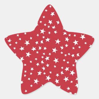 Red Scattered Stars Star Sticker