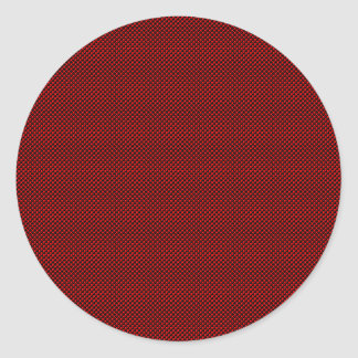 Red Scatters Round Sticker