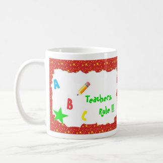 Red School Chalkboard Teachers Rule Mug