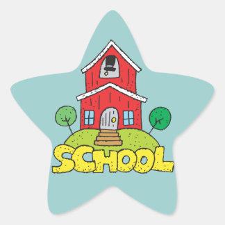 Red School House Star Sticker