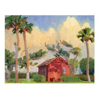 Red Schoolhouse postcard