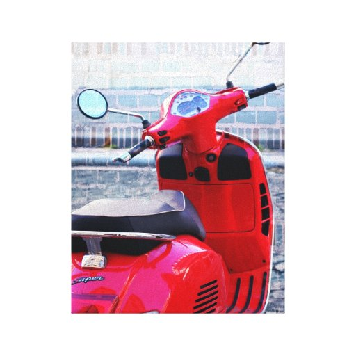 Red Scooter Canvas Prints