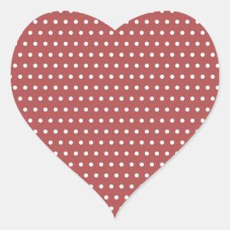 red scores polka hots dabs samples scored DOT Heart Sticker