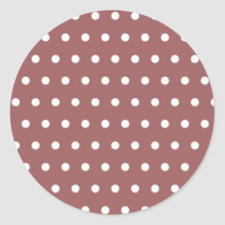red scores polka hots dabs samples scored DOT Round Sticker