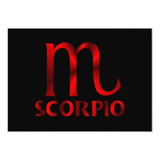 Red Scorpio Horoscope Symbol 13 Cm X 18 Cm Invitation Card