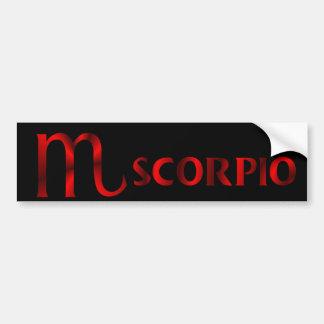 Red Scorpio Horoscope Symbol Bumper Sticker