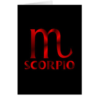Red Scorpio Horoscope Symbol Card