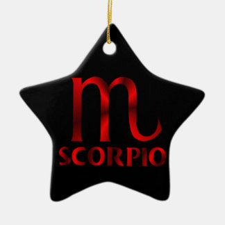 Red Scorpio Horoscope Symbol Christmas Ornament