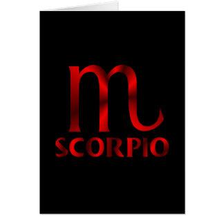 Red Scorpio Horoscope Symbol Greeting Card