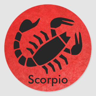 Red Scorpio Horoscope Zodiac Astrology Sticker
