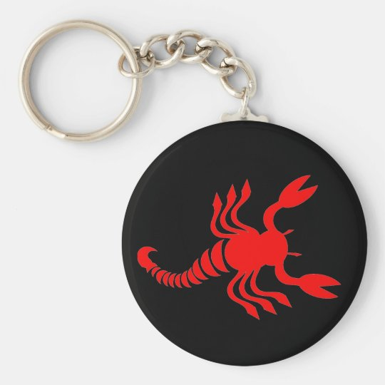 Red Scorpion Keychain