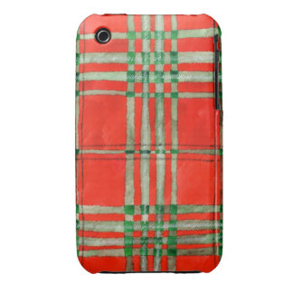 Red Scott Tartan iphone 3 Barely There Case Case-Mate iPhone 3 Cases