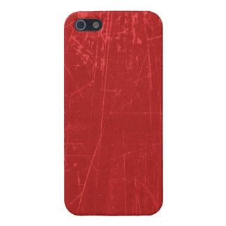 Red Scratched Aged and Worn Texture Cover For iPhone 5/5S