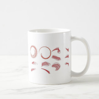 Red scribbles coffee mug
