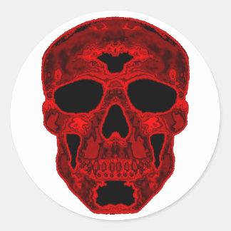 Red Scull Round Sticker