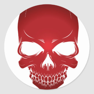 Red scull stickers