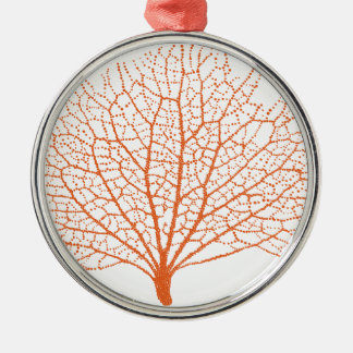 red sea fan coral silhouette christmas ornament