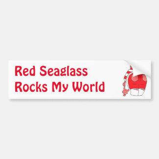 red seaham seaglass bumper sticker
