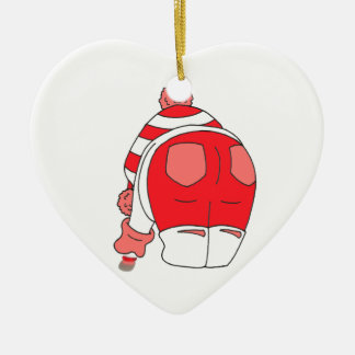 Red Seaham Seaglass Ceramic Heart Decoration
