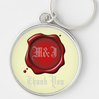 Red Seal Thank You Keychain Template