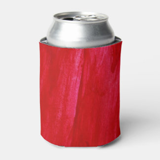 Red Seamless Background Abstract And Watercolor Can Cooler