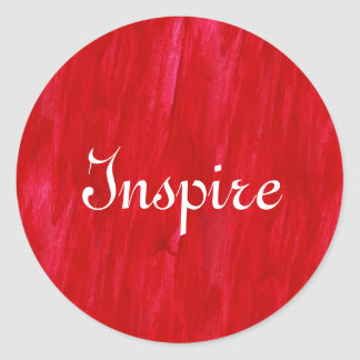 Red Seamless Background Abstract And Watercolor Classic Round Sticker