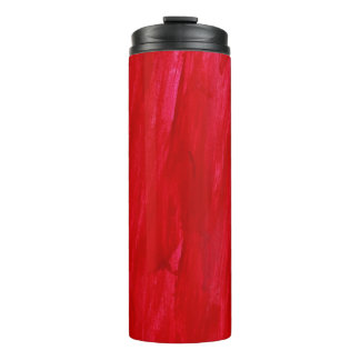 Red Seamless Background Abstract And Watercolor Thermal Tumbler