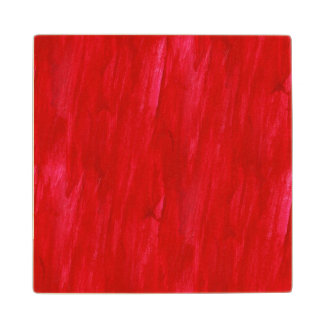 Red Seamless Background Abstract And Watercolor Wood Coaster