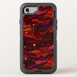 Red Seascape Stained Glass Style OtterBox Defender iPhone 8/7 Case