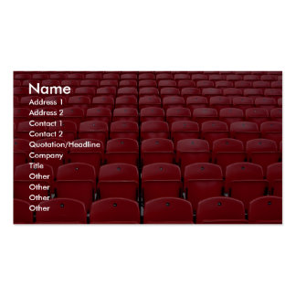Red seats at football stadium pack of standard business cards