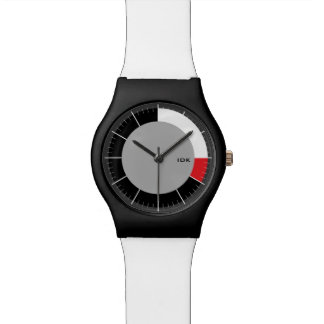 RED SEGMENT  | minimalist circle with HR markers Watches