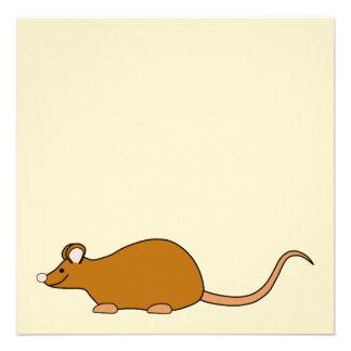 Red Self Color Pet Mouse. Custom Invitation
