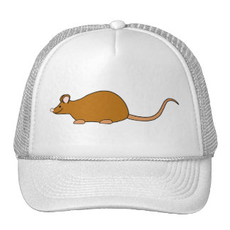 Red Self Color Pet Mouse Trucker Hat